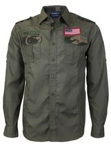 Men's US Military American Long Sleeve Button Up Camo Casual Dress Shirt image 9