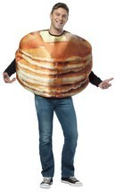 Pancakes Adult Costume Food Halloween Party Unique Cheap GC6807 - €42,51 EUR