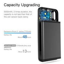 Baseus 5000mAh QI Wireless Charger Case External Battery Wireless Charging image 4