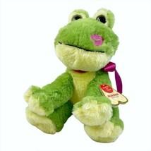 """Aurora Pucker Up Frog 10"""" Plush Green Kissing Sounds Light Up Stuffed An... - $24.49"""