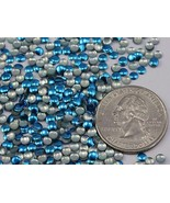 3mm Capri Blue H1 Nail Art Metal Gems Round Hot fix Studs - 1000 PCS - $9.47