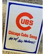 Hey Hey!  HOLY MACKEREL! 1969 CHICAGO CUBS Sheet Music FREE SHIPPING - $16.78