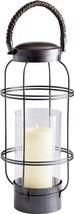 Candleholder CYAN DESIGN DARTMOUTH Large Dark Copper Glass - $312.50