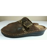 NAOT Sandals Womens EU 37 US 6 Brown Slides Clog Flat Mary Jane Leather ... - $39.99