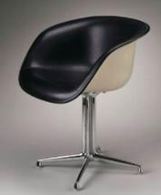 EAMES LA FONDA ALEXANDER GIRARD Herman Miller BLACK NAUGAHYDE CHAIR PICK... - $1,919.99