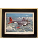 """Black Framed Print (12"""" X 16"""") of a B-17G Flying Fortress Aircraft over ... - $29.65"""