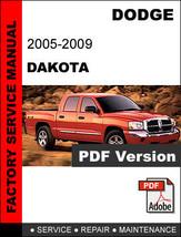 DODGE DAKOTA 2005 2006 2007 2008 2009 SERVICE REPAIR WORKSHOP MANUAL - $14.95