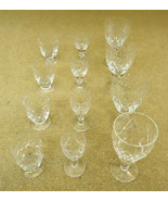 Etched Crystal Wine Glasses (3 sets of 4) - $76.70
