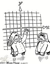 Cartesian Coordinate Apes. Original Cartoon by Walter Moore - $9.44