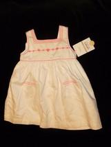 Carters Baby Girl Summer White & Hot Pink Sun Dress Sundress 6-12 Mos New - $17.81
