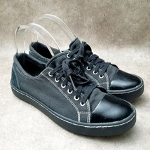 Clarks Collection Womens Sz 8.5 M Black Lace Up Low Top Sneaker - $24.99