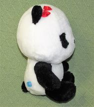 "ANIME PANDA Plush Japanese Stuffed Animal DOll Toy Black White RED BOW 9"" Baby  image 4"