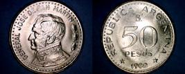 1980 Argentina 50 Peso World Coin - $3.49