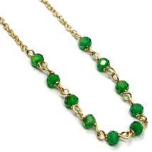 18K YELLOW GOLD ROSARY BRACELET, FACETED EMERALD ROOT, CROSS, MIRACULOUS MEDAL image 4