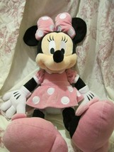 """DISNEY PARK STORE MINNIE MOUSE 19""""  PREOWNED STUFFED TOY - $21.31"""