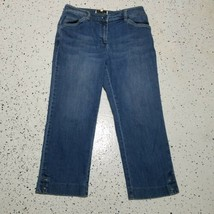 Jones New York Women's Denim Capri Jeans ~ Sz 4 ~ Blue ~ Stretch - $12.86