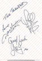 THE TREMELOES VINTAGE GENUINE AUTOGRAPH ON WHITE PAPER - $20.00