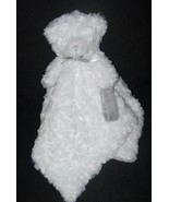 Blankets and Beyond White Grey Teddy Bear Swirl Baby Security Blanket Lovey - $14.82