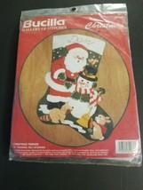 Bucilla Felt CHRISTMASB FRIENDS Stocking Kit 32967 New/Unopened - $29.09