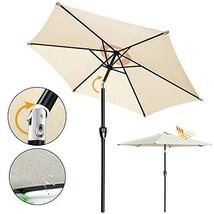 Outdoor Cantilever Shade Garden Umbrella - 9ft Polyester Shade Patio Umb... - $57.08