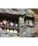 Rare Tau Tau Hand carved Ancestor Buffalo Grave Crypt Door Tana Toraja S... - $854.99