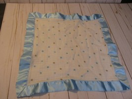 C3 Aden + Anais Stars Blue Brown Blanket Baby Satin Silky Lovey Security - $39.59