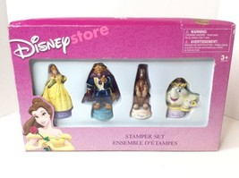 Disney Store Beauty And The Beast Stamper Marker Set Belle Philippe Mrs ... - $42.07