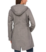 NEW Kirkland Signature Ladies' Light Grey Trench Rain Coat Hooded Jacket Large image 5