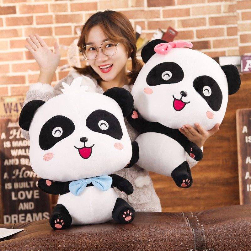 BabyBus 22/35/50cm Cute Panda Plush Toys Hobbies Cartoon Animal Stuffed Toy Doll