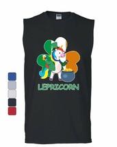 Lepricorn Muscle Shirt Funny St. Patrick's Day Unicorn Leprechaun Pot Sleeveless - $18.25+