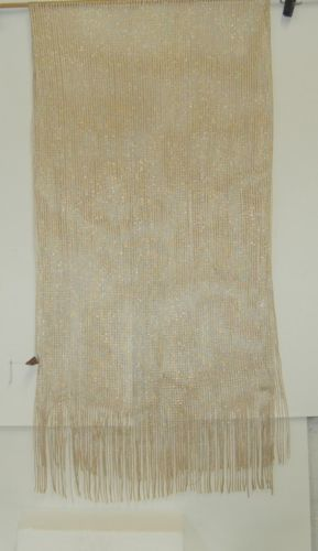 Accessories SHW 312 Scarf Tan Gold Long Fringed Shimmery 20 by 71 Inches