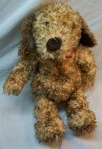 "GUND JED THE FUZZY BROWN DOG WITH RED BANDANA 12"" Plush STUFFED ANIMAL Toy - $19.80"