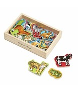 Melissa & Doug 20 Wooden Animal Magnets in a Box - $12.82