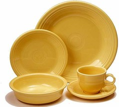 5 pc Dinnerware Set includes cup and saucer Sunflower - £58.87 GBP