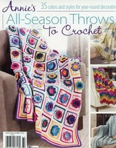 All Season Throws To Crochet 35 Designs Annie's PATTERN/Instructions Boo... - $7.17