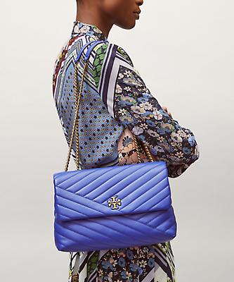 NWT Tory Burch Nautical Blue Kira Chevron Convertible Shoulder Bag image 12