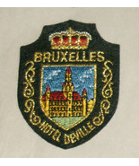 Bruxelles Hotel Deville Embroidered Sewn World Travel Patch - $9.08