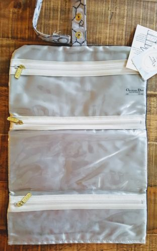 CHRISTIAN DIOR Jewel Roll Organizer Sac w/3 Zip Pockts Flat or Hang image 3