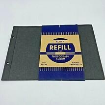 Vintage Photo Album Refill 9-Count 726-P 2-Hole Black Pages 8-3/8 x 12-1... - $21.95
