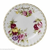 Royal Albert Sweet  Pea April Flower of the Month LUNCH PLATE NEW IN BOX - $42.08