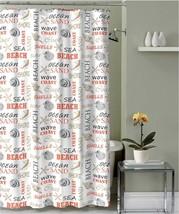 "Nautical Inspire Beach Seashells & Sand Fabric Shower Curtain,Size:70"" x... - $14.29"
