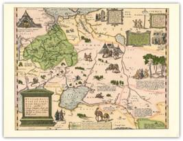 Russia Map 1562 Abraham Ortelius -Theatrurn Orbis Terrarurn - Vintage Pr... - $51.23