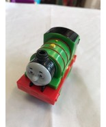 Toy Train Green Red Black Face On Front Number 6 Mattel - $4.26