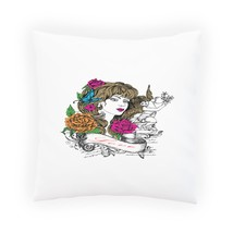Beautiful Woman, Cupid Angel and Flowers Pillow Cushion Cover nn40p - $12.02+