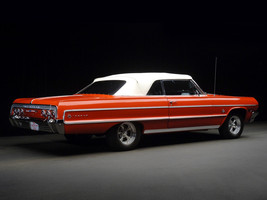 1964 Chevrolet Impala Convertible red convertible   24 x 36 INCH   sports car - $18.99