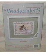 "Great 7"" X 5"" Weekenders Countless Cross Stitch Kit Wonderment Cat - $26.95"