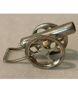 Sterling Silver Cannon Pendant Charm Vintage 3 Dimensional Collectible Gift - $29.99