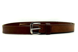 Marks and Spencer M&S Womens Leather Skinny Belt Brown Size Large - $15.33