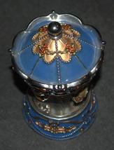 Vintage Decorated Enamel Jeweled Elephant Carousel Music Box  image 2