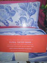Floral Print Tufted Pillow Sham Blue - Opalhouse Standard 1 Sham  STORE NEW! image 4